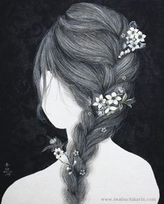 Braid with flowers  Karin Iwabuchi