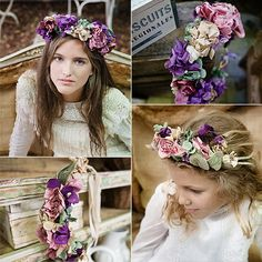 Coronas de flores para el pelo granada