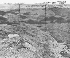 The Cassino area of Italy, site of prolonged fierce fighting in 1944. (US Army Center of Military History)