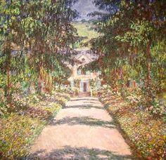 Fichier:Claude Monet, La grande allée à Giverny (1900).jpg