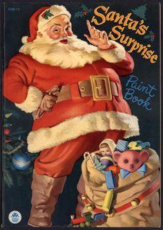 UNCOLORED  Santa s Surprise  #1598 Merrill 1949 Cover by Haddon Sundblom (4695)
