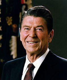 President Reagan, the 'Great Communicator' notice the accepting, gentle, demeanor.