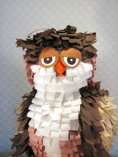 Owl Pinata Pink and Brown by SouthcastleCreations on Etsy, $43.00    I love Pinatas!!