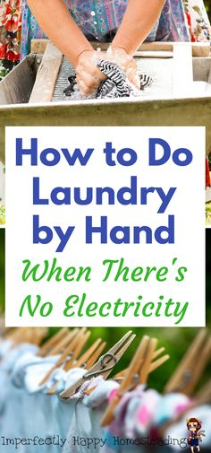 How to Do Laundry by Hand When There's No Electricity. For off-grid homesteaders, preppers and campers.