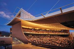 The Santa Fe Opera, Santa Fe, New Mexico. An excellent view of the seating area. The opera season runs late June through late August.