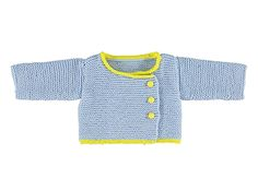 Blauwe babycardigan | Veritas BE