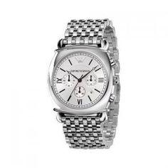 armani watch ar0315 Armani Watches For Men, Emporio Armani, Chronograph, Bracelet Watch, Stainless Steel, Bracelets, Accessories, Bangle Bracelets, Watch
