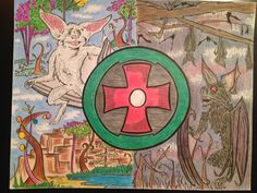 3 black green red white 3 exotica 3 pinterest ted the circle inspired by ted dekker and the circle series ink and colored pencil aloadofball Choice Image