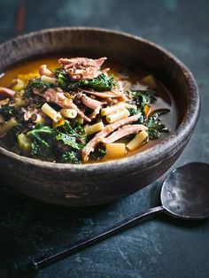 ham lentil and kale soup   donna hay