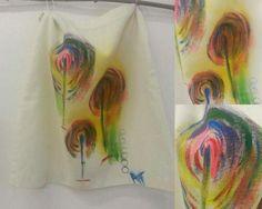 Hand painted skirt