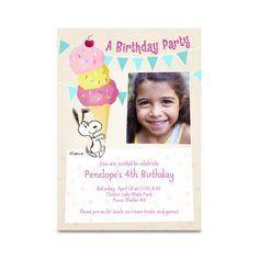 Personalized birthday invitation.