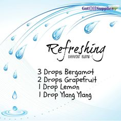 Refreshing Diffuser Blend With Bergamot, Grapefruit, Lemon and Ylang Ylang Essential Oils Essential Oil Perfume, Essential Oil Diffuser Blends, Doterra Essential Oils, Young Living Essential Oils, Doterra Diffuser, Bergamot Essential Oil, Grapefruit Essential Oil, Perfume Recipes, Diffuser Recipes