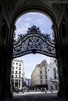 Vienna - view from the gates of the Hofburg Palace