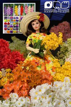 OOAK Mattel BAT Barbie doll repaint as Audrey Hepburn Funny Face