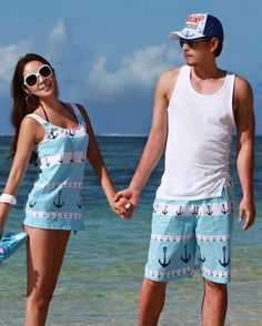 22.99 and 10% off with code: PIN10  Separates - Matching OR separate Bikini, dress, board shorts blue or red Anchors Nautical swim summer baithing suit trunks anchor beach matc...