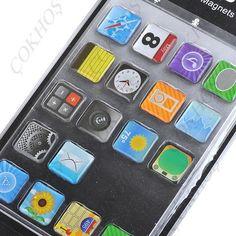 iPhone İkonları Temalı Buzdolabı Magnetleri