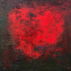 HEARTBEAT, oil on canvas, 100 x 100 cm, 2018, abstract art by Eva Tikova, RED COLLECTION In A Heartbeat, Oil On Canvas, Abstract Art, Red, Painting, Collection, Painting Art, Paintings, Painted Canvas