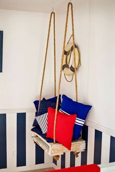 "Would be cute swinging from a tree too...or from inside garage to the outside ""patio""!  NO nautical theme tho"