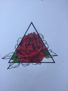 Peony on triangle