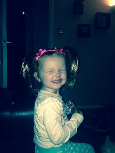 Daisy in her cute little pigtails x
