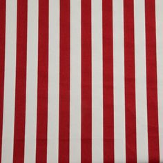 Homescapes Pure Cotton Red Stripes Curtain Fabric Material, 150 cm Wide : Fabrics