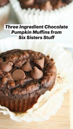 Fall Dessert Recipes, Fall Desserts, Just Desserts, Fall Recipes, Delicious Desserts, Chocolate Pumpkin Muffins, Pumpkin Muffin Recipes, Sweet Bread, Have Time
