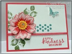 CCMC307, Stampin Up, #stampinup, Beautiful Bunch, Fun Flower Punch, Kinda Eclectic, Connie Babbert, www.inkspiredtreasures.com by ivy