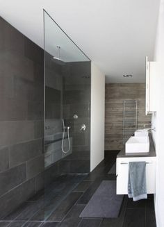 "we bought tile like this...8""x16"" that is a granite/slate appearance. for the walls in the shower."