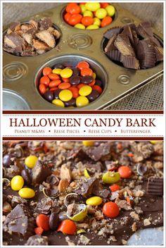 Halloween Candy Bark  |  TheCakeBlog.com