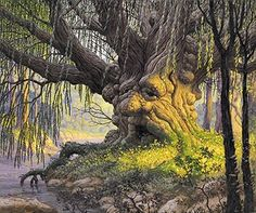 Tolkien Calendar Feb 1978 Old Man Willow, Brothers Hildebrandt