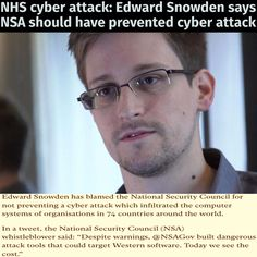 Edward Snowden speaks out after cyber attack brings chaos to NHS Laura Poitras, Glenn Greenwald, Edward Snowden, Cyber Attack, Uk Homes, Nbc News, Explain Why, Current Events, How To Become