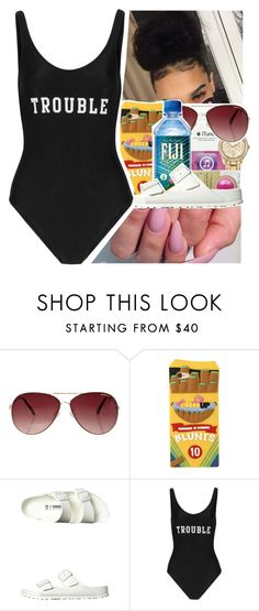 """""""P O O L A T T I R E (Suggestion)💧"""" by purplequeen04 ❤ liked on Polyvore featuring MINKPINK, Birkenstock and ADRIANA DEGREAS"""
