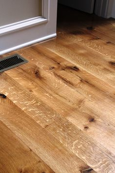White Oak Kitchen Floor - Durham, CT - White Oak Flooring - Quarter and Rift Sawn - Natural