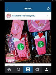 Starbucks Cookies, Cake Cookies, Latte, Valentines Day, Lunch Box, Ipad, My Love, Valentine's Day Diy, Bento Box