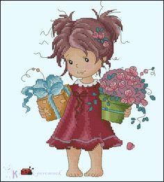 .Menina, o presente e a flor