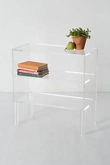 Anthropologie transparent bookcase
