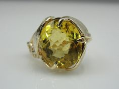 Stunning Handmade 14K Yellow Gold Brazilian Heliodor Beryl in an Art Nouveau Setting,  RGBE108P on Etsy, $1,665.00