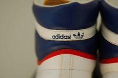 Vintage Hi top Adidas Basketball Top Ten Sneakers, Retro Adidas 1980's Sneakers, ADIDAS Basketball Sneakers, Men's Size 9.5 Sneakers. $95.00, via Etsy.