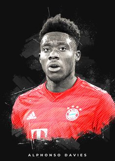"Beautiful ""Alphonso Davies"" metal poster created by Creativedy Stuff. Our Displate metal prints will make your walls awesome. Football Players Photos, Football Pictures, Bayern Munich Wallpapers, Sports Graphic Design, Graphic Art, Lionel Messi Wallpapers, Inka, Fc Bayern Munich, T Shirts"