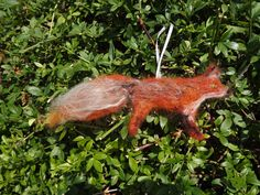 Fox, Needle Felted, Home Decor, Gift, Decoration, Ornament, Wall Art, Felted, Woodland, Xmas, Handmade, Hanging Decoration, Christmas by DecadentAndFabulous on Etsy