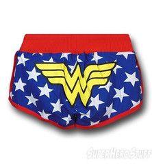 Wonder Woman Juniors Stars Short Shorts from Superhero Stuff. Double S, Female Profile, Tough Girl, Batman, Badass Women, Running Shorts, Running Wear, Workout Wear, Workout Outfits