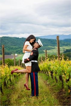 A Military Engagement Session by Imago Dei Photography via www. Military Couple Pictures, Military Couples, Military Love, Military Photos, Couple Photos, Military Engagement Pictures, Military Police, Military Ball, Military Couple Photography