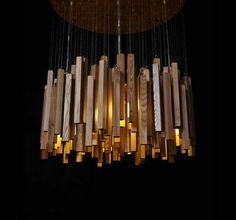 lampadaire sublime en bois