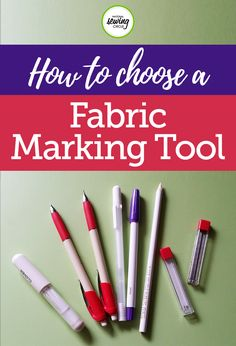 Fabric marking tools come in handy whether you are sewing a garment, home décor project or are making a quilt. There are many different kinds on the market today, but here are some things to consider when selecting one.
