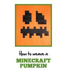 How To Weave A Paper Minecraft Pumpkin | MineMum