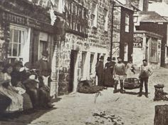 The Wharfe St Ives Cornwall c1915 Antique Sepia by APureVintage
