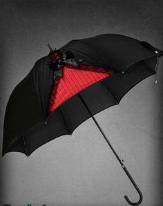 Ombrelle noire et rouge