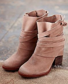 pretty blush suede booties