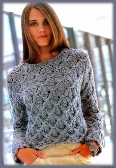 Sweater tejidos a dos agujas - Imagui