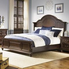 """Arched poplar headboard with cherry veneers.   Product: HeadboardConstruction Material: Poplar solids and cherry veneersColor: Distressed burgundy spiceDimensions: Queen: 68"""" H x 67"""" W x 7"""" DKing: 68"""" H x 83"""" W x 7"""" DNote: Product includes headboard only"""